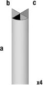 Slat Spårpanel Spårpanel Aluminium 41X41 H2400mm