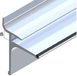 Slat Spårpanel Aluminiumskena för glashylla