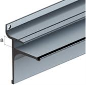 Slat Spårpanel Målad aluminiumskena för glashylla