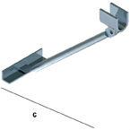 Slat Spårpanel Konfektionsbåge stöd för tung vikt för WA34