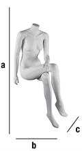 Colonne WIGE sittande kvinna