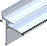 Slat Spårpanel Aluminium skena för glashylla