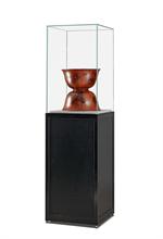 Glaskuber Hög glaskub på piedestal