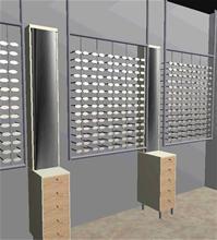 Optikinredning Hängande stålram med bågrör