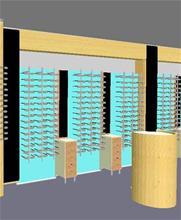 Optikinredning Ljusväggar med bågexponering